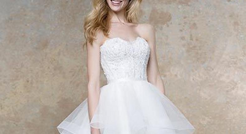 Wedding dress by Ellis Bridals.