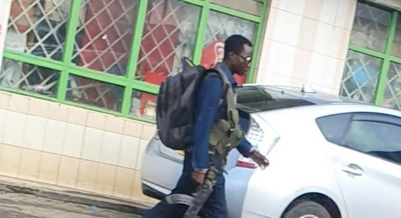 He is our officer - Police issue statement on gunman spotted at Asmara Pangani, Nairobi County