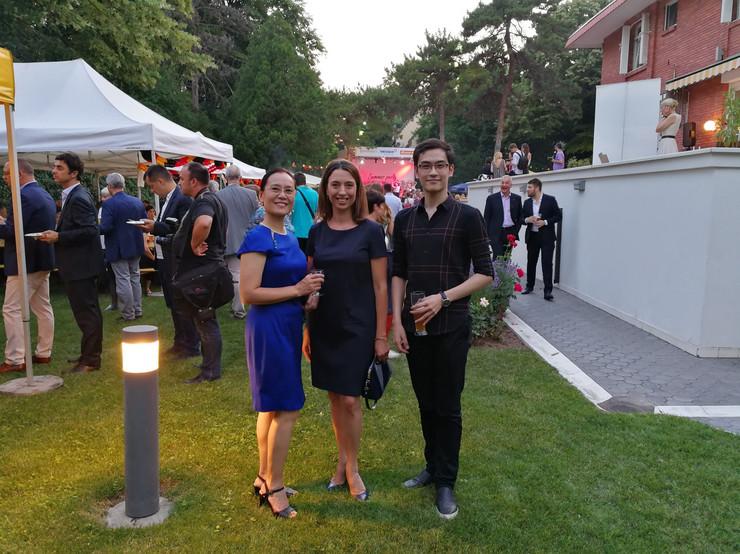 Geng Vej Đi i Aja Jung na prijemu kod nemačkog ambasadora u Srbiji