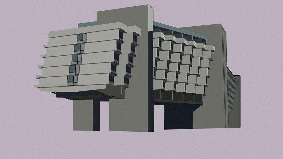 Architektura na ilustracjach. Nietypowe grafiki autorstwa Naomi Muras