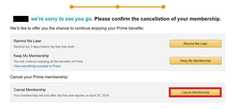 Amazon Prime Cancel Screen 4