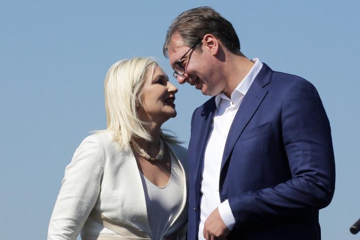 Zorana Mihajlović i Aleksandar Vučić