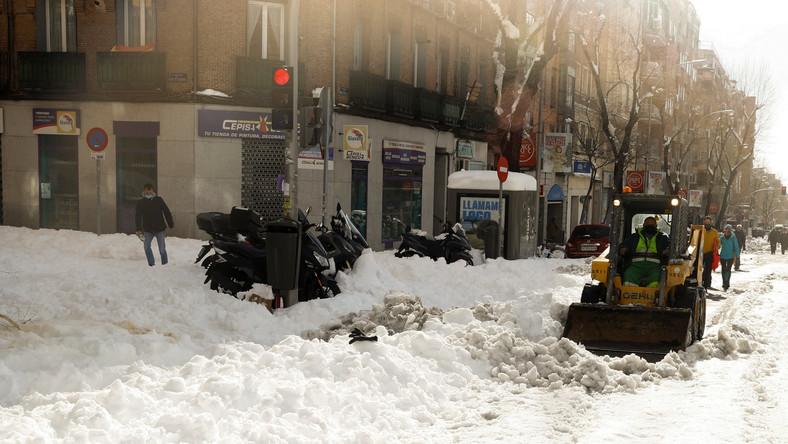 Śnieżyca w Hiszpanii