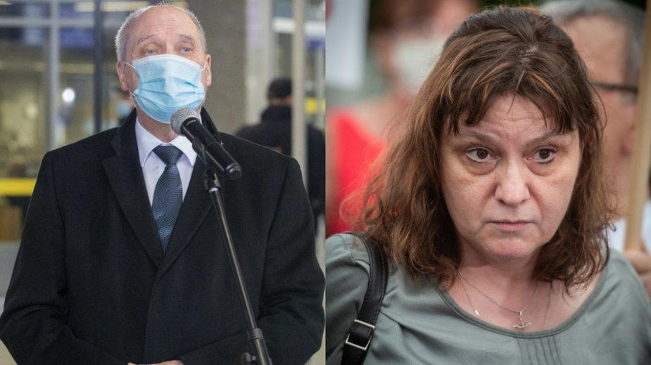 Antoni Macierewicz (fot. Tomasz Jastrzębowski/REPORTER) i Ewa Stankiewicz