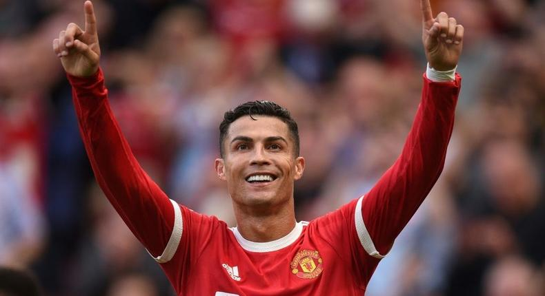 Cristiano Ronaldo scored twice in his first game back at Manchester United
