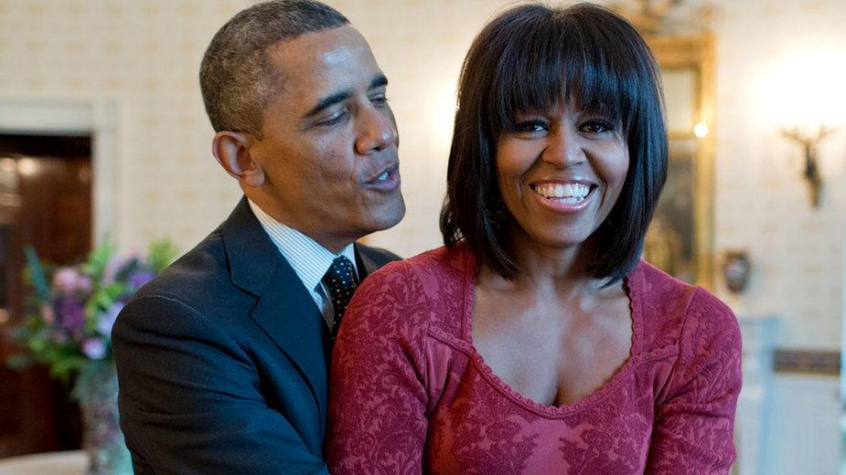 Michelle i Barack Obamowie w 2013 r.