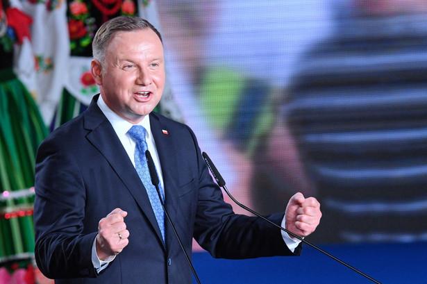 Ubiegający się o reelekcję prezydent RP Andrzej Duda