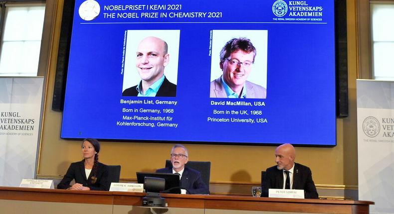 Lauréats prix nobel chimie