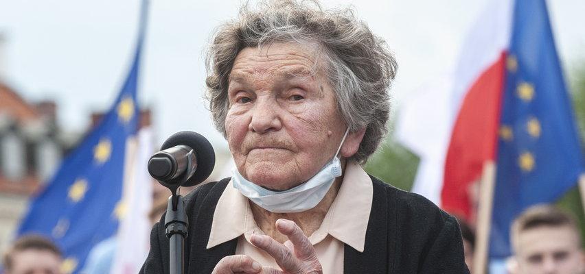 """Wanda Traczyk-Stawska mówi, że przez nich powstańcy płaczą. Chce przerwać """"marsz podłości"""""""