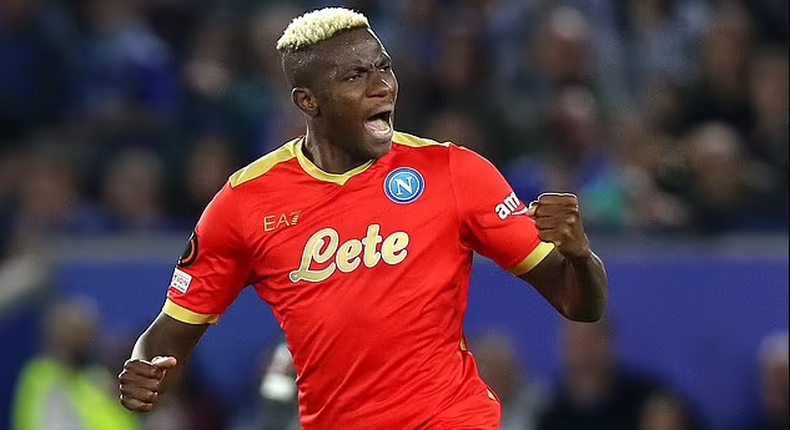 Victor Osimhen scored a brace as Napoli got a point away at Leicester City (Getty Images)