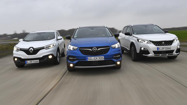 Opel Grandland X kontra Peugeot 3008 i Renault Kadjar