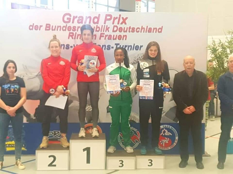 Blessing Oborududu, another Nigerian won Bronze at German Grand Prix (Twitter/Keemlawal47)