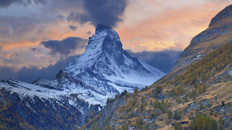 Matternhorn, widok z Zermatt