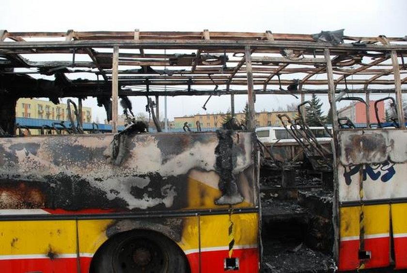 Pożar autobusu w Krośnie