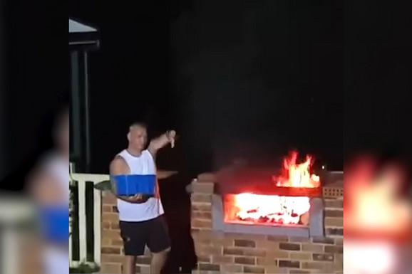 Pokušao je da ugasi roštilj, pa jedva IZVUKAO ŽIVU GLAVU