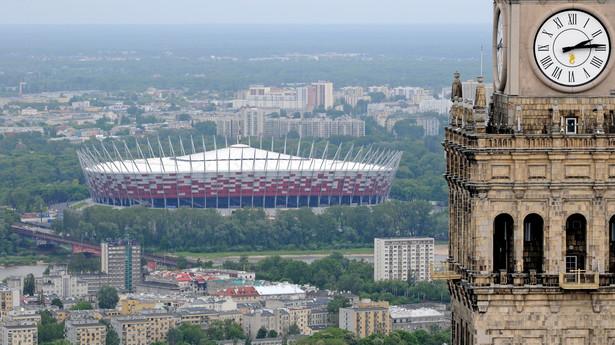 Stadion PGE Narodowy i Pałac Kultury i Nauki w Warszawie