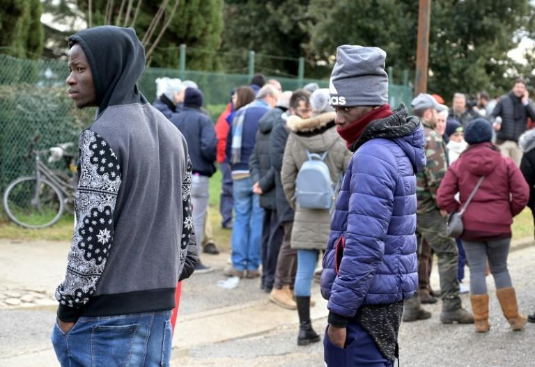 Italian authorities are removing migrants from the reception centre at Castelnuovo di Porto, just north of Rome, after far-right Interior Minister Matteo Salvini's tough anti-migrant decree became law