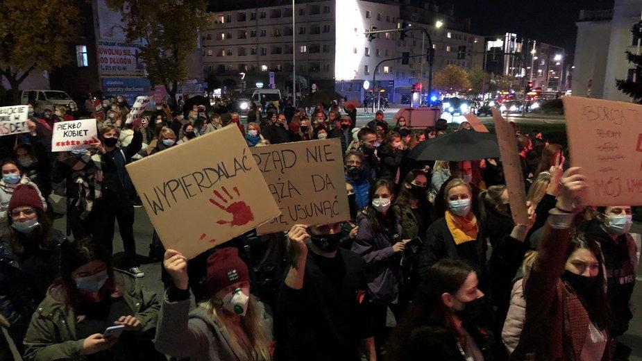 Kolejny protest w obronie praw kobiet w Kielcach