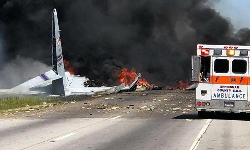 Katastrofa wojskowego samolotu