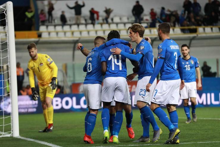 Fudbalska reprezentacija Italije, Fudbalska reprezentacija Lihtenštajna