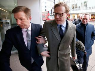 Alexander Nix, CEO of Cambridge Analytica arrives at the offices of Cambridge Analytica in central L