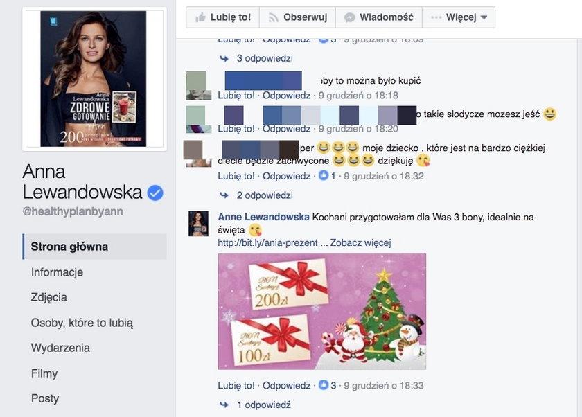 Fałszywe konta Anny Lewandowskiej na Facebooku