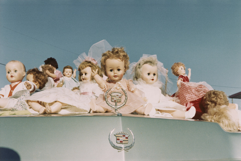 "William Eggleston, ""Dolls on Cadillac, Memphis"" (1972)"