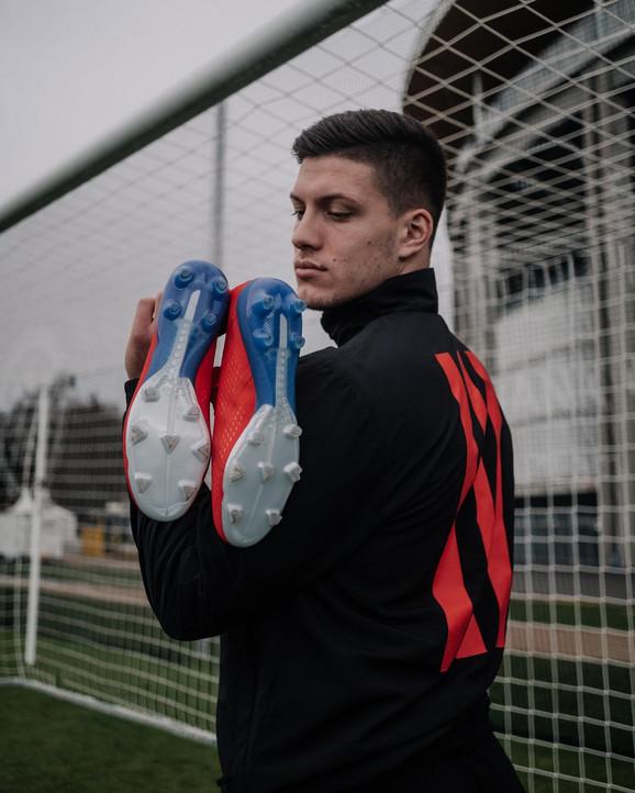Luka Jović sa adidas kopačkama adidas X18+