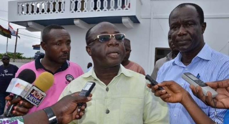 Freddie Blay [in spectacles] has been accused of opening a private account in the name of the NPP