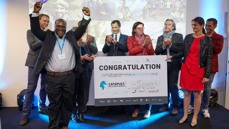Livingstone Mukasa, founder of Four One Financial Services, Uganda's first micro-pension service and Mayicard platform, won the Best Catapulter Award at the LHoFT bootcamp