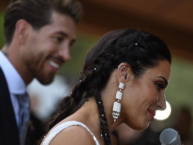 Serhio Ramos i Pilar Rubio na venčanju