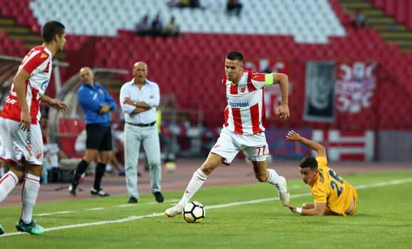 Marko Gobeljić na meču sa Dinamom iz Vranjađ