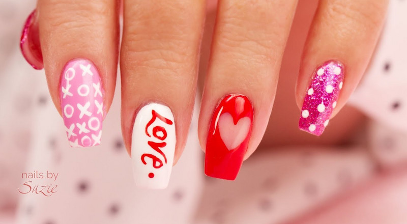 Get yourself some creative nail art designs for Valentine's day