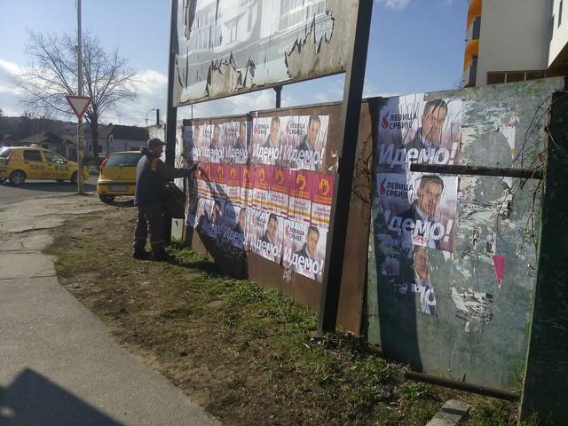 Predizborna kampanja počinje plakatima: Kragujevac u martu 2016.