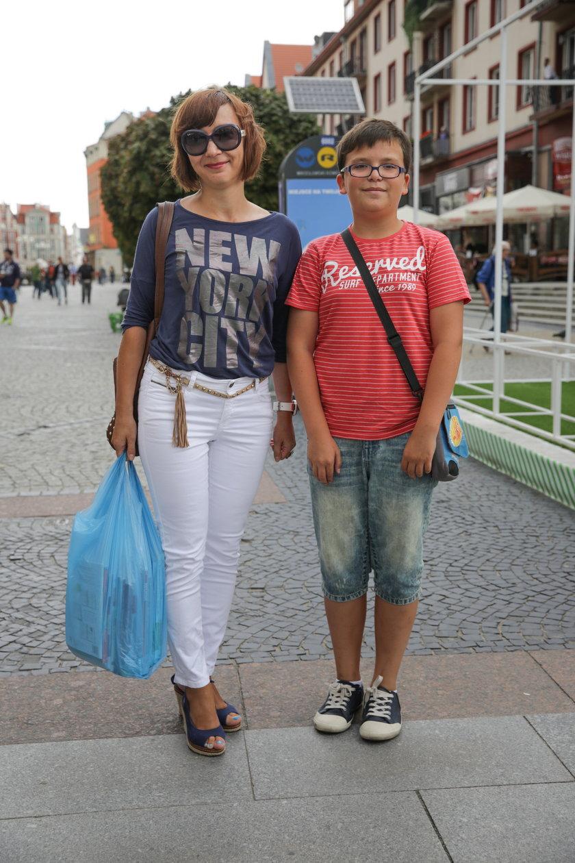Joanna Przyłucka (37 l.) z synem Kamilem (13 l.) z Wrocławia