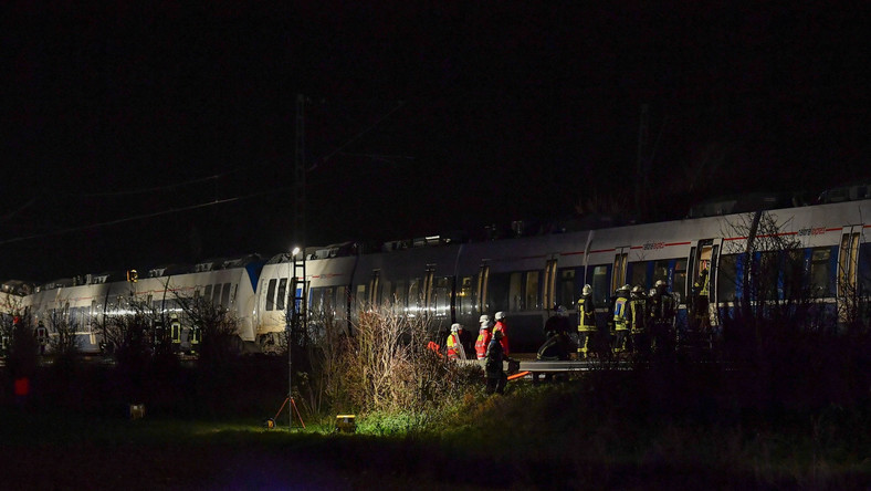 GERMANY TRAIN ACCIDENT (Train accident Meerbusch)