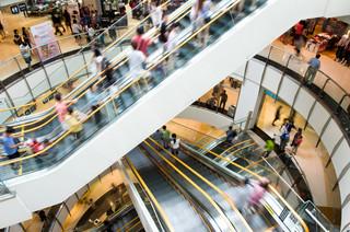 Galeria handlowa odpowiada za ruchome schody