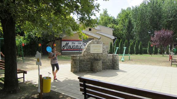 Park u Batajnici koji nosi ime Milice Rakić