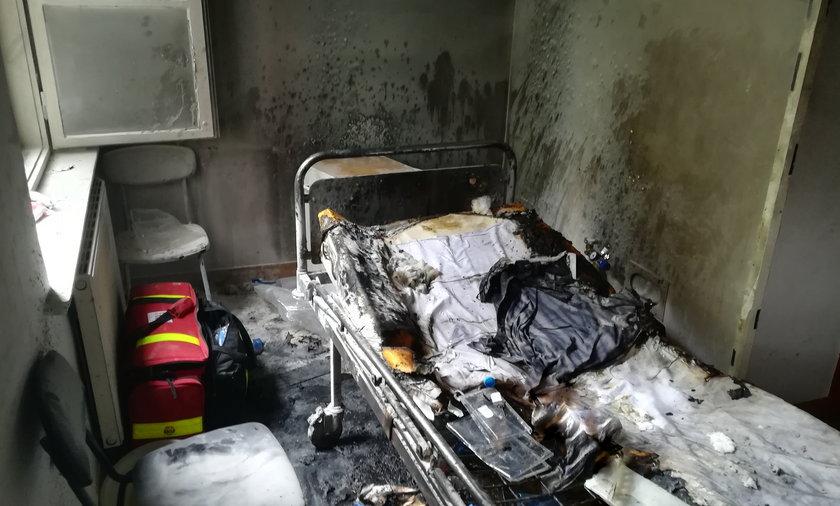 Dramatyczny finał pożaru na oddziale psychiatrycznym w Kościanie.