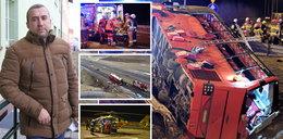 """""""To był horror. Ludzie jęczeli z bólu, błagali o pomoc"""". Relacja ofiar katastrofy autokaru na A4"""