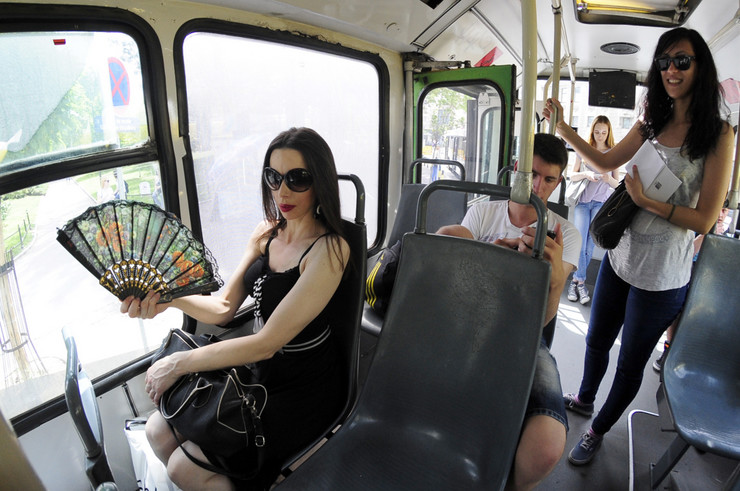 Bez klime u autobusu
