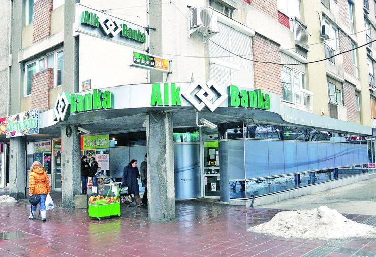 Poslovnica AIK banke u kojoj je radio Krivokapic Foto K Kamenov
