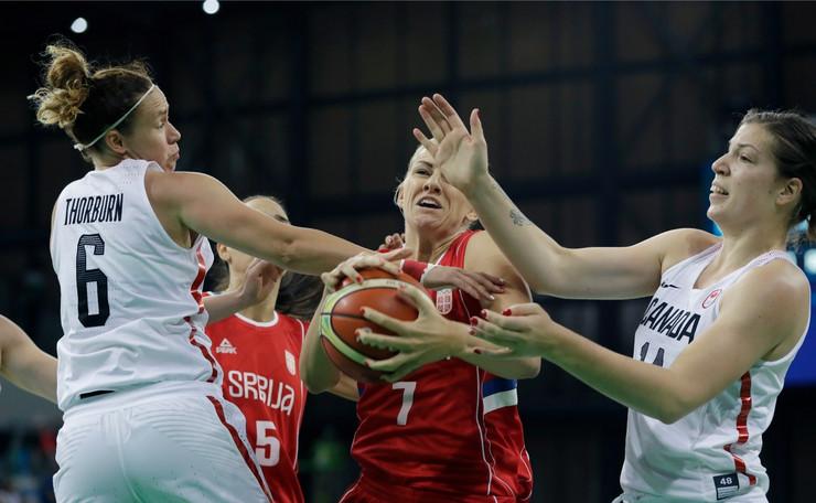 Ženska košarkaška reprezentacija Srbije, Ženska košarkaška reprezentacija Kanade