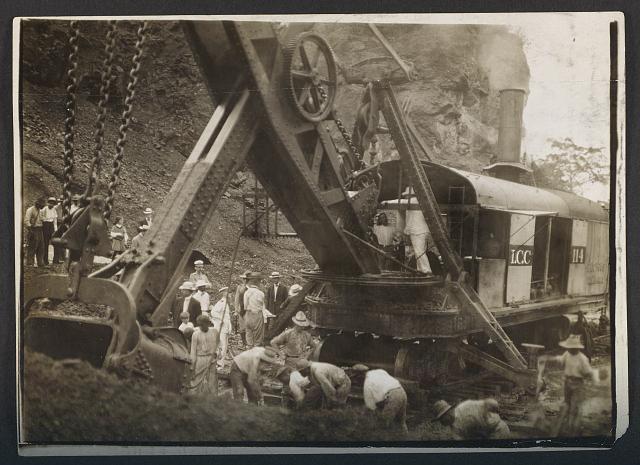Prezydent Theodore Roosevelt na budowie Kanału Panamskiego, fot. Library of Congress