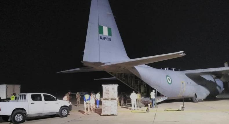 NAF airlifts electoral materials for INEC (Nigerian Air Force HQ)