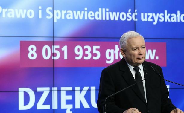 Uzyskaliśmy legitymację do tego, by kontynuować dobrą zmianę, by kontynuować naszą politykę, by Polskę w dalszym ciągu zmieniać - powiedział w poniedziałek prezes PiS Jarosław Kaczyński odnosząc się do wyników wyborów.