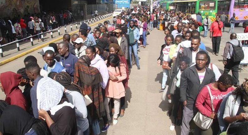 Kenyans queuing to register for Huduma Namba