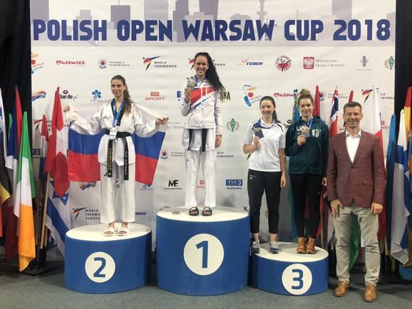 Tijana Bogdanović na pobedničkom postolju
