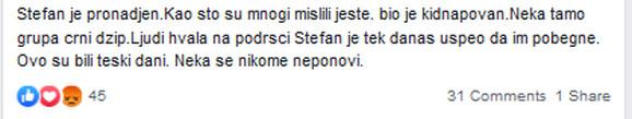 Objava Stefanove mame