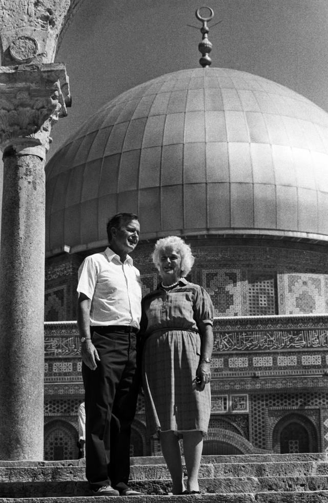 Džordž i Barbara Buš u Izraelu 1986.